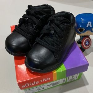 Stride Rite Elliot Black Leather Infant Shoes